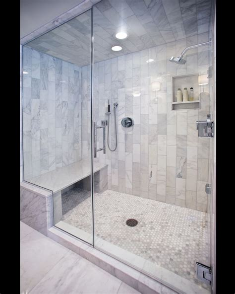Steam Shower Carerra Marble Custom Steam Shower Master Bath