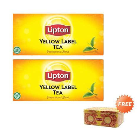 Teh Lipton Yellow Label Tea jual lipton envelope yellow label 2 g 25 tea bags