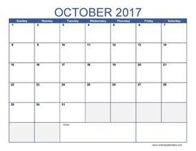 free october calendar template october 2017 calendar template calendar printable free
