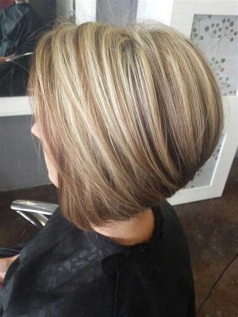 bob hair lowlights short blonde and brown hairstyles hair styles
