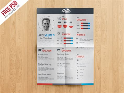 Creative Cv Templates Free by Creative And Professional Resume Free Psd Template