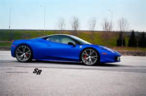 Blue 458 Italia Gallery Blue 458 Italia On Pur Wheels Motorward