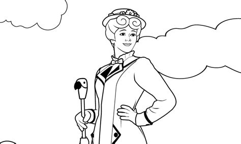 free coloring pages of mary poppins