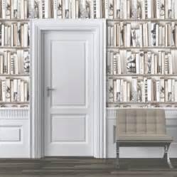 white bookcase wallpaper encyclopedia bookshelf wallpaper muriva wallpaper