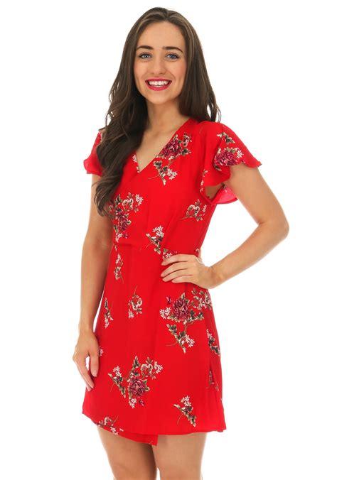 Floral Print Wrap Dress ax floral print wrap dress mcelhinneys