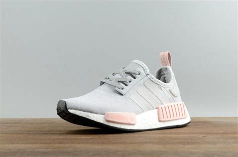 Adidas Nmd Runner R1 Grey Premium Quality authentic adidas originals nmd r1 w real boost by3058 grey pink running shoes dhl free shipping