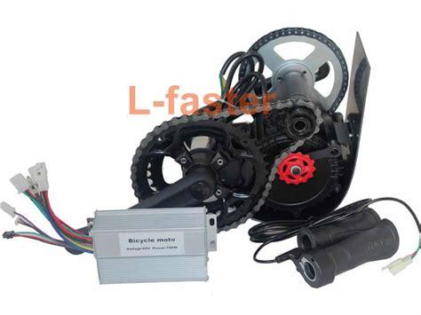 E Bike 650 Watt 500w 650w e bike mid drive motor kit chain l faster