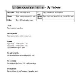 Werklund School Of Education Course Outlines by Syllabus Template Course Syllabus Template