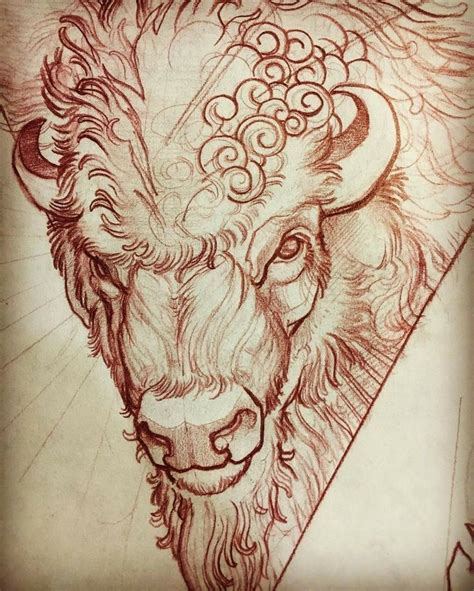 buffalo tattoo designs pin by duren watts on buffalo tatoo