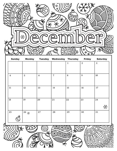 december calendar coloring pages added jan 9 start your year off right with this