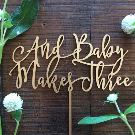 Caketopper Cake Topper Acrilic Wood M 10 1 baby cake topper and baby makes three acrylic or wood