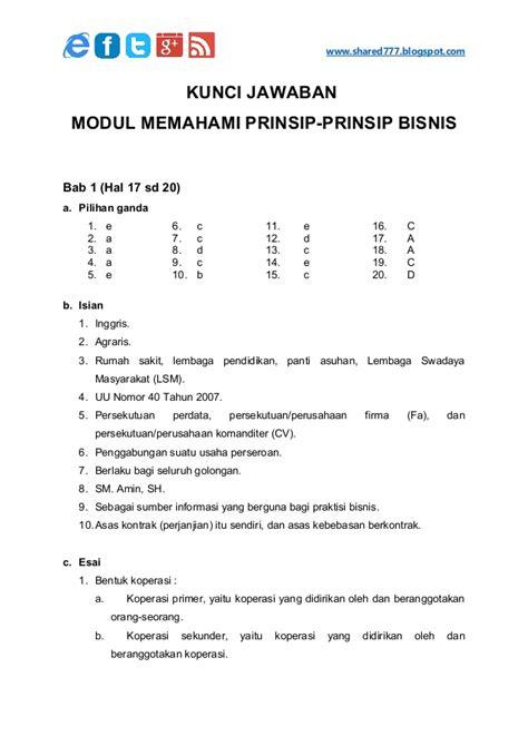Perencanaan Pemasaran Smk Kelas X Sesuai Kurikulum 2013 kunci jawaban memahami prinsip bisnis