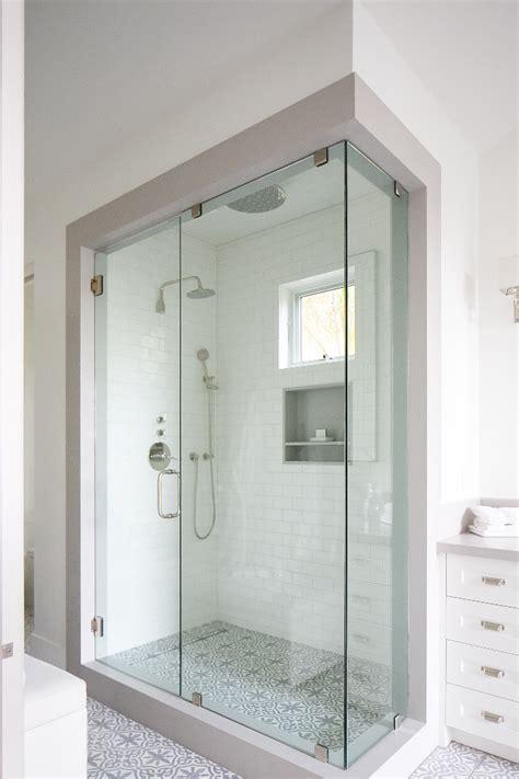 glass enclosed shower interior design ideas home bunch
