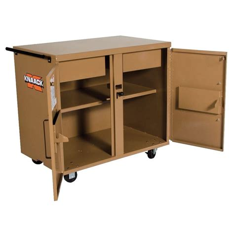 rolling tool cabinet workbench knaack 7 sq ft classic rolling workbench 40 the home depot