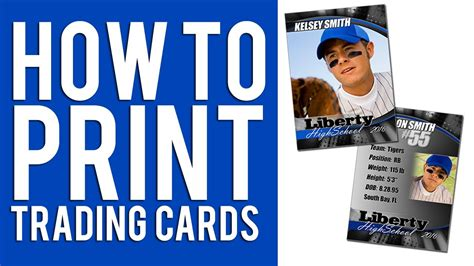 how to print custom trading cards tutorial youtube