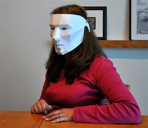 How To Make A Paper Mask - how to make an easy last minute polygon mask for