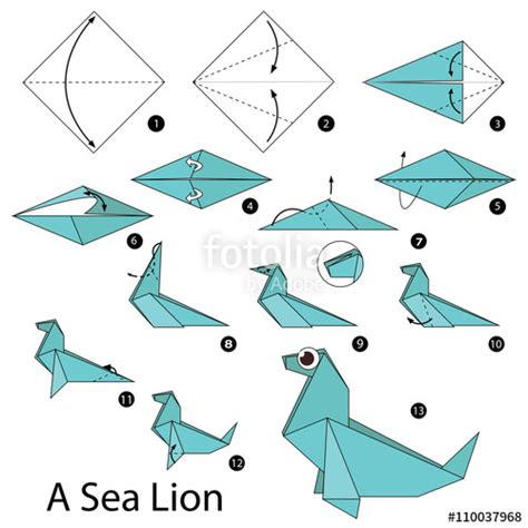 How To Make A Paper Id - quot step by step how to make origami a sea