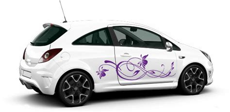 Aufkleber F Rs Auto Kindernamen by Auto Aufkleber Dekoration Blumenranke Autoaufkleber