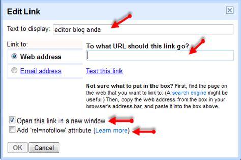 membuat link in cara mudah membuat link pada artikel blog untuk pemula