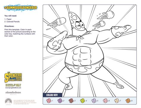 spongebob color by number coloring pages the spongebob movie sponge out of water patrick color by