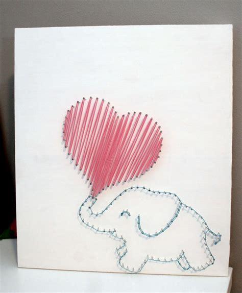 String Arts - items similar to elephant string on etsy