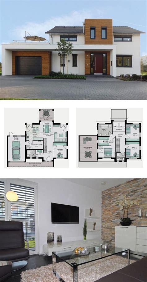 modernes einfamilienhaus mit garage galerie und