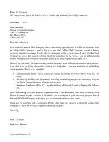 Cover Letter For Business Internship by Internship Cover Letter Freewordtemplates Net