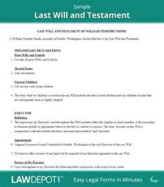 Last Will And Testament Template California by Last Will Testament Form Print Free Last Will Forms