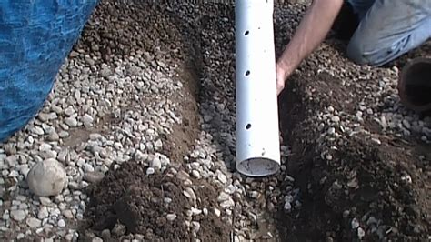 Installing A Drain In Backyard by How To Install Perforated Pipe Drain For Do It