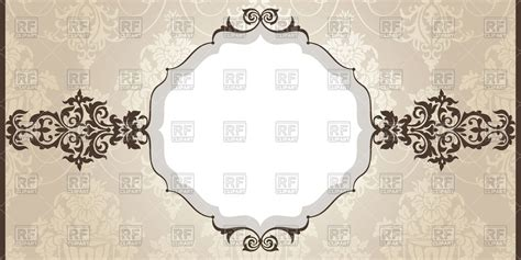 wallpaper classical elements round frame with vintage elements on classic background