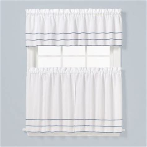 36 inch tier curtains buy natural shells stripe 36 inch window curtain tier