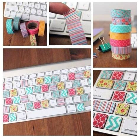 diy washi tape washi tape diy keyboard pretty up diy pinterest