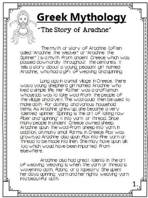 Mythology Essays by Mythology The Story Of Arachne Packet By Theteacherteam Teaching Resources Tes
