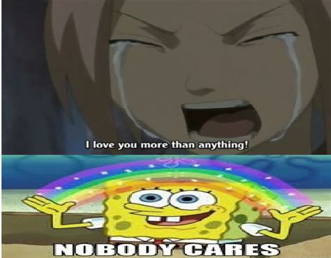 Spongebob Nobody Cares Meme - nobody cares by subarashii comics on deviantart