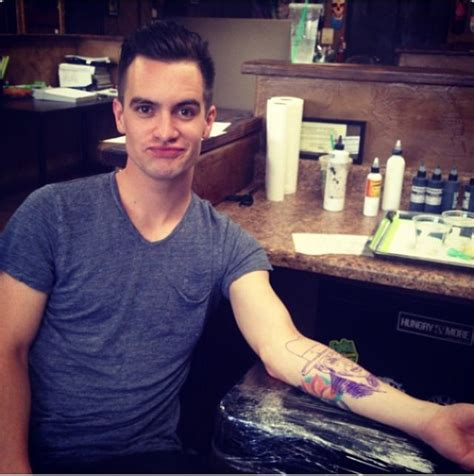brendon urie tattoo brendon getting his brendon urie