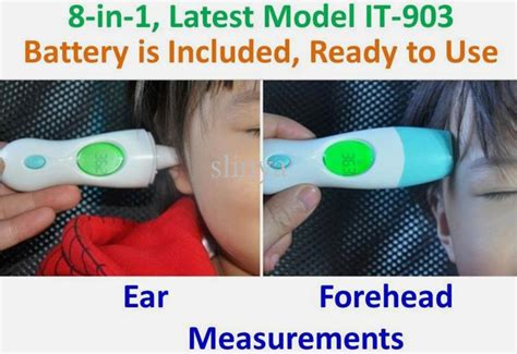 Digital Thermometer Infrared It 903 Thermometer Digital 8in1 it 903 8 in 1 multi function baby ear forehead infrared digital thermometer household