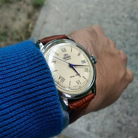 Orient Bambino Automatic Blue the new orient bambino creme blue mywatchmart