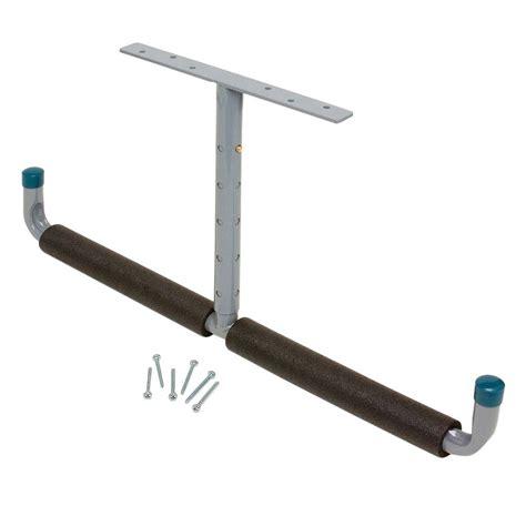 Ceiling Shelf Brackets by Everbilt 2 Way Padded Adjustable Overhead Hook 18032 The Home Depot