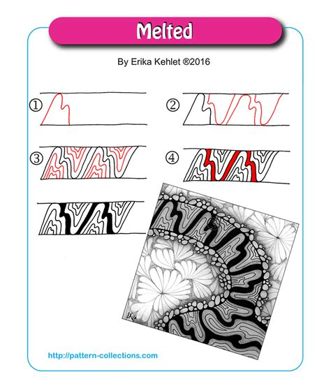 doodle name erika melted pattern collections