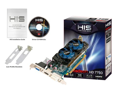 Vga Card Hd 7750 His 7750 Icooler 1gb Gddr5 Pci E Dvi Hdmi Vga