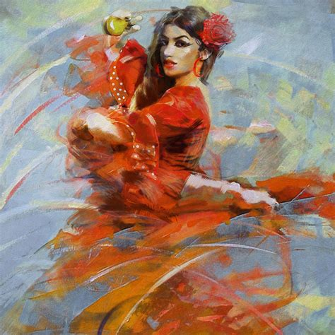 painting images flamenco 47 painting by maryam mughal