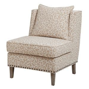 ivory animal print accent chair right up my