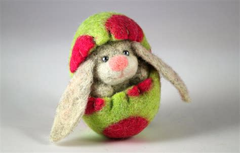 Handmade Easter - 17 handmade needle felted easter decorations