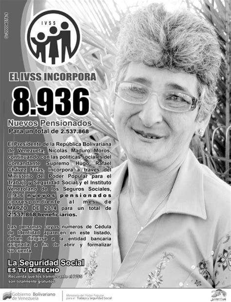 pensionados ivss marzo 2014 descargar nuevo listado de pensionados del seguro social
