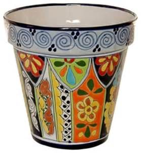 mexican talavera flower pot 10 quot diameter large design d
