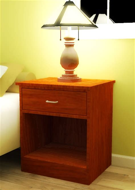 plywood open nightstand