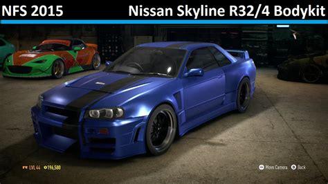 nissan skyline modified 2016 nissan skyline r32 4 bodykit need for speed 2015 r32
