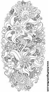 free printable coloring pages for adults advanced flowers free coloring pages of henna flowers