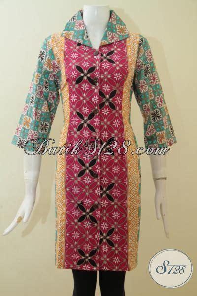 Dress Batik Cap Bantulan Kombinasi Ukuran M Berlapis Trikot shop batik referensi busana batik perempuan masa kini jual dress batik cap tulis