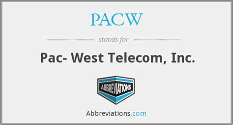 Pac West Telecomm Lookup Pacw Pac West Telecom Inc